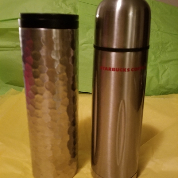 Starbucksl tumbler and thermos